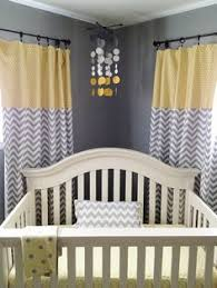 Yellow Nursery Curtains Baby Mobile Woodlands Birds Trees Mobile Mint Mustard Grey