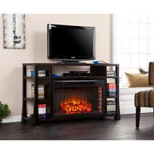stockton media electric fireplace ebony stain