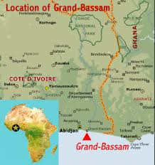 africa map ivory coast historic town of grand bassam cote d ivoire world