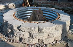 Stone Fire Pit Kit by Retaining Wall U0026 Patio Block