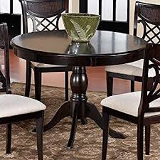Round Pedestal Dining Tables Amazon Com Pedestal Round Dining Table Dark Oak Finish Tables