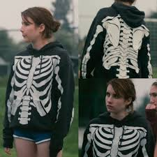 film romantique emma roberts skeleton sweatshirt on the hunt