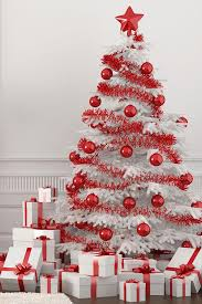 white christmas trees astounding white christmas tree with decorations 39 for room