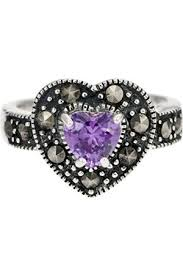 amethyst heart rings images Buy ornami rings for women online fashiola co uk compare buy jpg