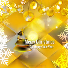 yellow christmas ornament background template 123freevectors