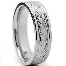 can titanium rings be engraved 6mm titanium ring wedding band with engraved floral