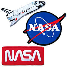 nasa iron on patches 5 save pack