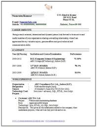 Sample Resume For Freshers Engineers by Sample Resume For Freshers Engineers Doc Templates