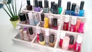 diy nail polish rack organizer with popsicle sticks youtube