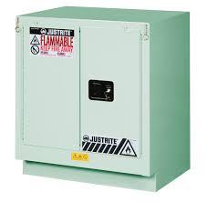 Justrite Flammable Liquid Storage Cabinet Under Fume Hood Safety Cabinet 19 Gal 1 Shelf 2 S C Doors