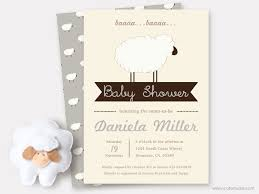 Baby Shower Invitations And Thank You Cards Gray Sheep Baby Shower Invitation Printable Sweet Little Lamb