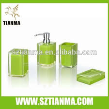 Acrylic Bathroom Accessories Apple Green Acrylic Bathroom Accessories Set Shenzhen Factory