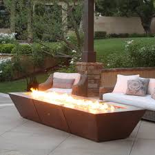 Outdoor Table With Firepit by Outdoor Copper Fire Pit Oil Rubbed Bronze Fire Pit