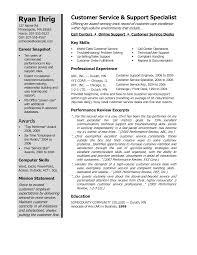 resume template customer service winning resume exle exles resumes template home design