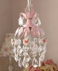 How To Make A Mini Chandelier Shabby Chic Pink Pinterest Chandeliers Mini Chandelier And