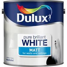 dulux matt paint 7 l pure brilliant white amazon co uk diy