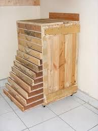 diy wood tool cabinet pallet tool trolley servante d atelier pallet tool tool storage