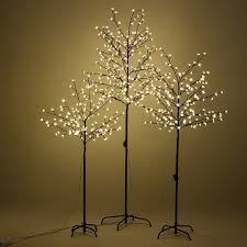 led tree home us warm christmas cherry blossom led tree light floor white