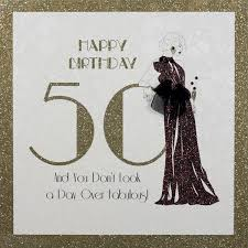 50th birthday card five dollar shake a day fabulous