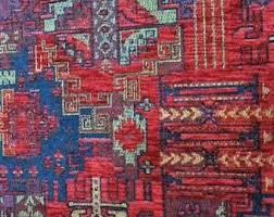 Velvet Chenille Upholstery Fabric Kilim Fabric Etsy