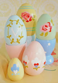 ceramic easter eggs cottage flavor beautifully decorated easter eggs