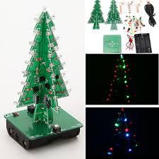 Christmas Decoration Online Purchase 3d 3 colours led christmas tree flash kit electronic learning kit