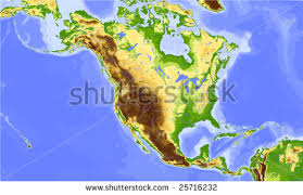 central america physical map elevations south america map relief stock illustration 81087427