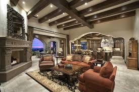 The Living Room Scottsdale Mediterranean Living Room With Exposed Beam U0026 Box Ceiling In
