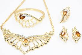 new gold set 2015 new fashion design clothing 18k gold plated jewelry