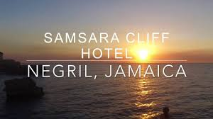 samsara cliff hotel negril jamaica by drone youtube