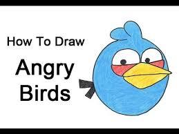 draw blue bird angry birds blue bird