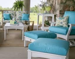 Sunbrella Rocking Chair Cushions Poly Lumber Classic Terrace Ottoman W Sunbrella Cushion