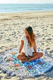 vagabond wildflower round towel from new jersey by making waves
