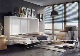 gloss front double wall bed horizontal foldaway murphy smart bed
