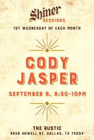 shiner sessions live music series featuring cody jasper the
