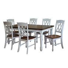home styles monarch 7 piece dining set white oak 7203853 hsn