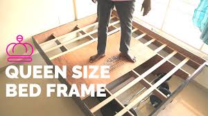 Bed Frame Legs For Hardwood Floors Unique Queen Size Bed Frame How To Build Youtube