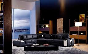 decorating your living room with black leather furniture la