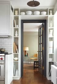 over the door cabinet shelf above door modern kitchen lauren rubin architecture