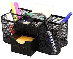 Office Desk Organizer Sets Decobros Desk Supplies Organizer Caddy Black