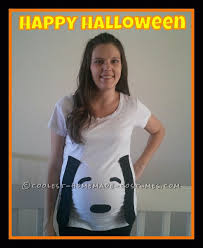 snoopy costume easy maternity snoopy costume for 8 dollars