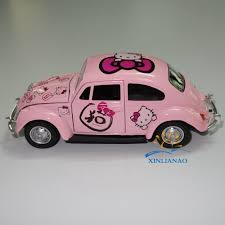 cartoon car back girls kt cat volkswagen beetle model car cartoon toys high