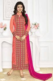 attractive ayesha takia peach color designer salwar kameez from