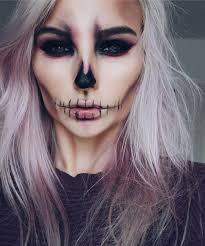 Halloween Skull Face Makeup by Skeleton Makeup U2026 Pinteres U2026