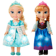 disney frozen snow glow singing sisters anna u0026 elsa doll toy
