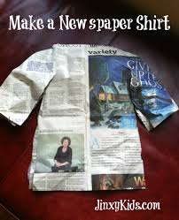 newspaper shirts an easy fun and silly craft project jinxy kids