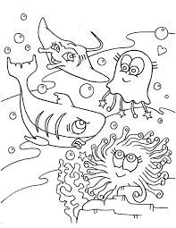 cute coloring pages of sea animals animal coloring pages of