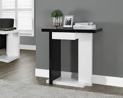 Black Gloss Living Room Furniture Amazon Com Monarch Specialties Glossy White Black Hall Console