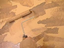 Concrete Faux Paint - example of the faux painting of a wood design a great look on an