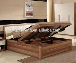 qa02 modern wood double bed designs with box latest wooden box bed